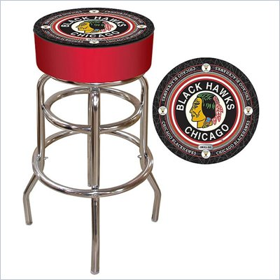 Trademark Retro NHL Vintage Chicago Blackhawks Padded Bar Stool