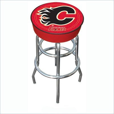 Trademark Retro NHL Calgary Flames Padded Bar Stool