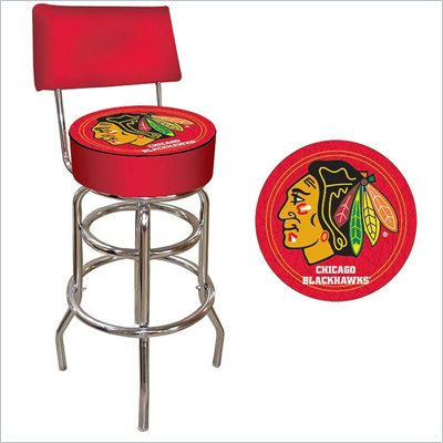 Trademark Retro NHL Chicago Blackhawks Bar Stool with Back