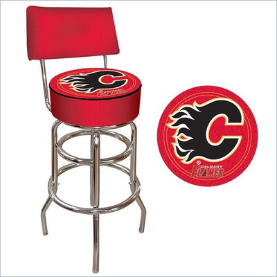 Trademark Retro NHL Calgary Flames Padded Bar Stool with Back