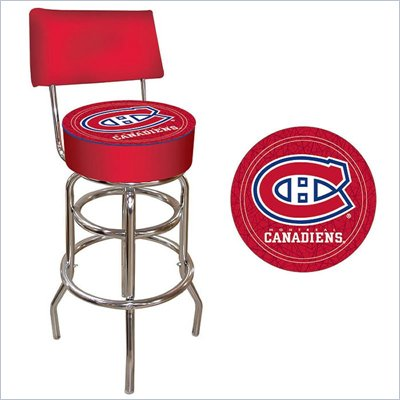 Trademark Retro NHL Montreal Canadians Padded Bar Stool with Back