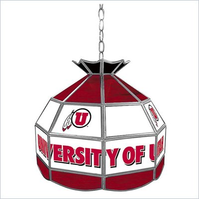Trademark University of Utah Stained Glass Tiffany Lamp -16 Inch
