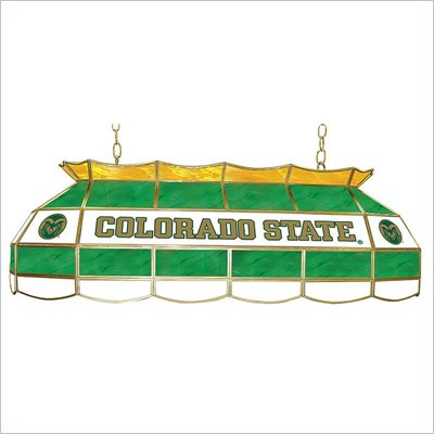 "Trademark Colorado State University Stained Glass 40"" Tiffany Lamp"