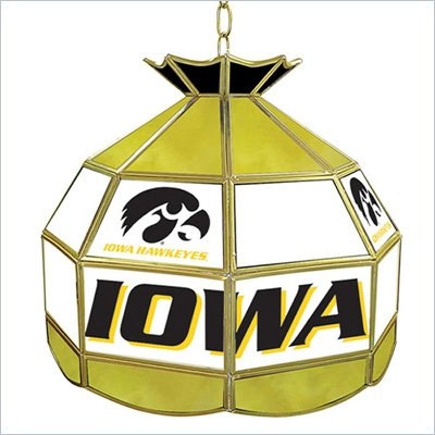 Trademark University of Iowa Stained Glass Tiffany Lamp - 16 Inch