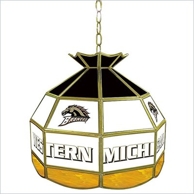 Trademark Western Michigan U Stained Glass Tiffany Lamp - 16 Inch