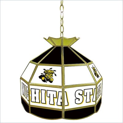 Trademark Wichita State U Stained Glass Tiffany Lamp - 16 Inch