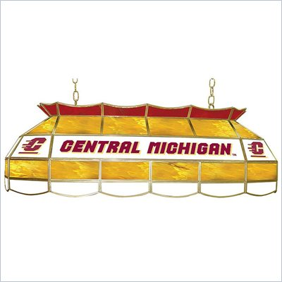 Trademark Central Michigan U Stained Glass 40&quot; Tiffany Lamp