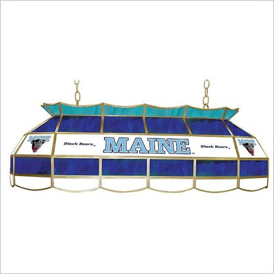 Trademark University of Maine Stained Glass 40&quot; Tiffany Lamp
