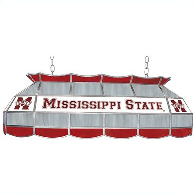 Trademark Mississippi State Univ. Stained Glass 40&quot; Tiffany Lamp