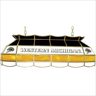 "Trademark Western Michigan University Stained Glass 40"" Tiffany Lamp"