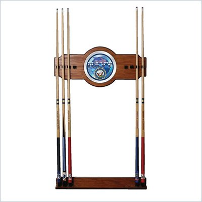 Trademark U.S. Navy 2 piece Wood and Mirror Wall Cue Rack