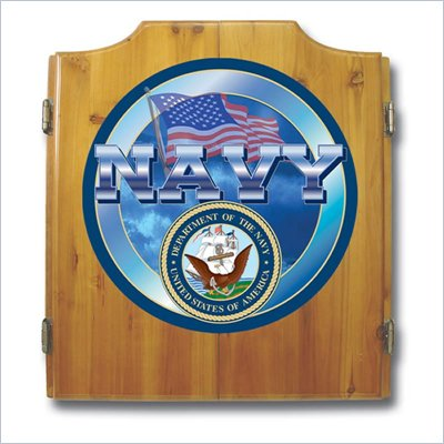 Trademark US Navy Cabinet includes Darts and Board