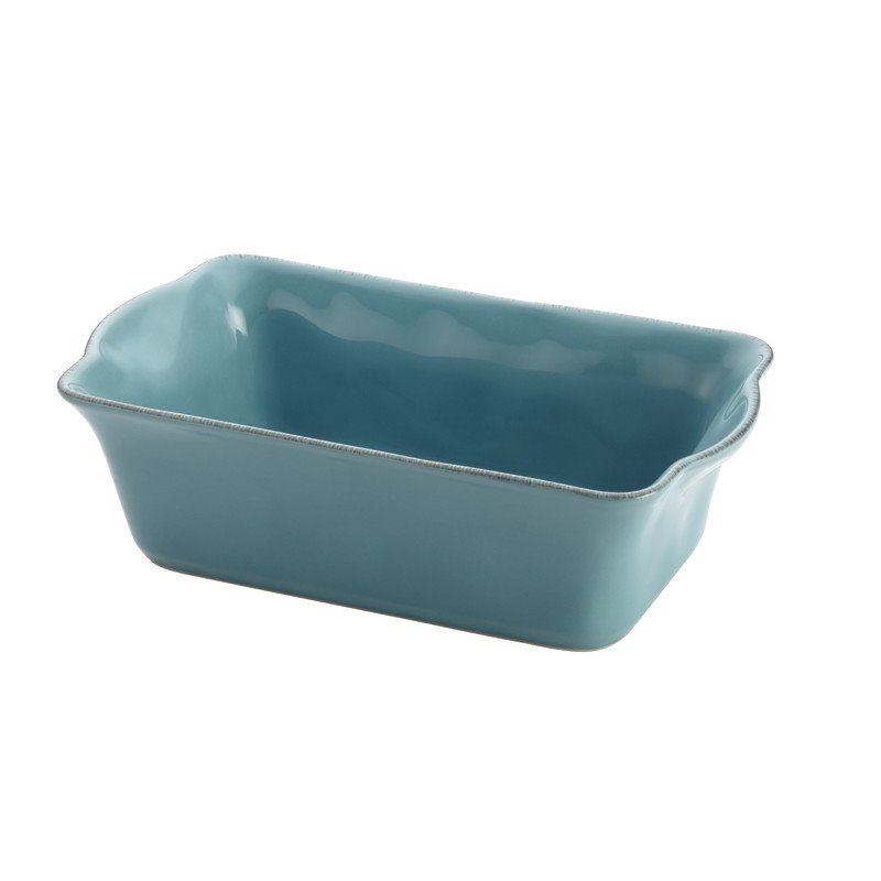 Rachael Ray Cucina Stoneware Loaf Pan in Agave Blue 58315