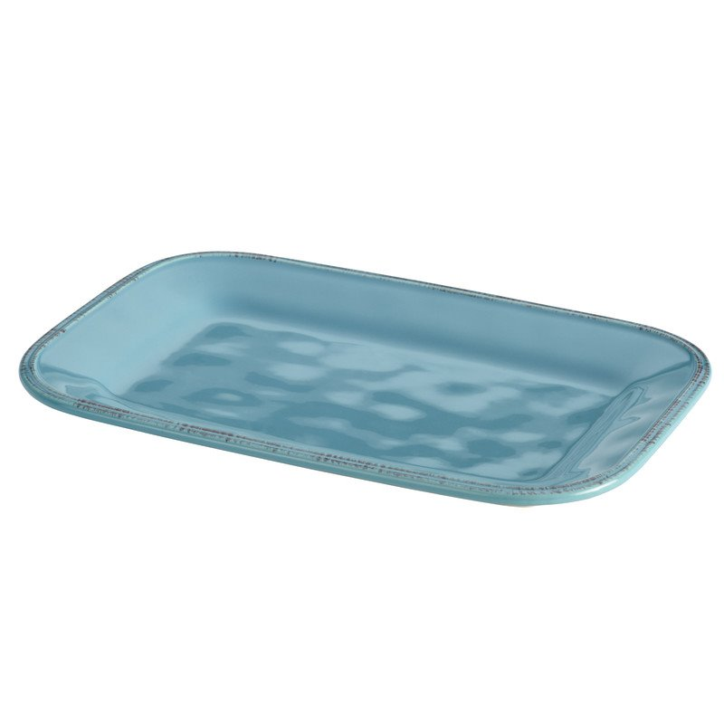 Rachael Ray Cucina Serveware Platter in Agave Blue 57231