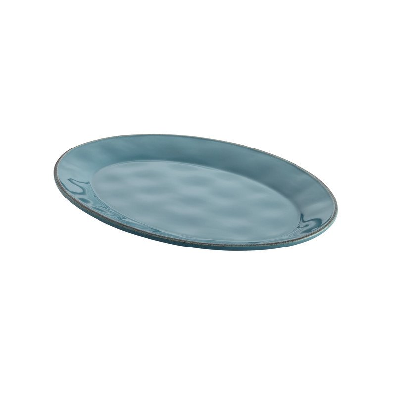 Rachael Ray Cucina Serveware Platter in Agave Blue 57403