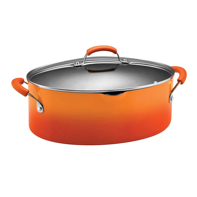Rachael Ray Porcelain Pasta Pot in Orange Gradient 11707