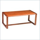 Office Star Oak Finish Rectangular Coffee Table