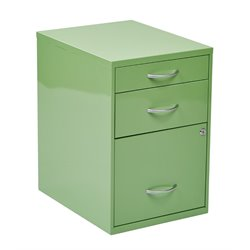 Office Star OSP Designs 3 Drawer Metal File Cabinet in Green