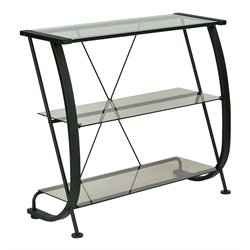 Office Star Pro-Line II OSP Designs 3 Shelf Bookcase in Black