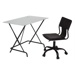Office Star OSP Designs 2 Piece Office Set in Black