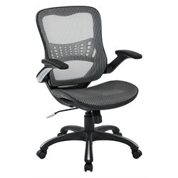 Office Star Work Smart Mesh Seat Managers Chair in Gray