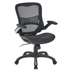 Office Star Work Smart Mesh Seat Managers Chair in Black