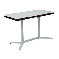 Office Star Pro-Line II Pneumatic Height Adjustable Table in White
