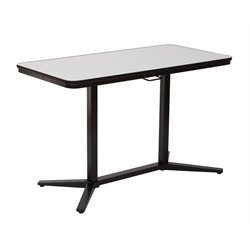 Office Star Pro-Line II Pneumatic Height Adjustable Table in Black