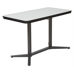 Office Star Pro-Line II Pneumatic Height Adjustable Table in Titanium