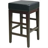 Office Star Metro 25 Square Barstool in Black & Espresso