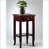 Office Star Merlot Small End Table with Drawer