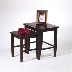Office Star 2 Piece Nesting Tables in Espresso