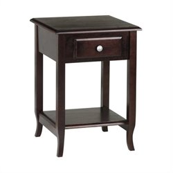 Office Star Accent Table in Merlot