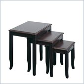 Office Star Merlot 3 Pc. Nesting Tables