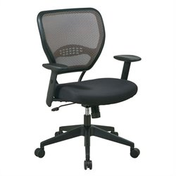 Office Star SPACE Collection: Deluxe Latte Air Grid Managers Office Chair in Black