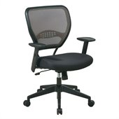 Office Star SPACE Collection: Deluxe Latte Air Grid Managers Chair in Black
