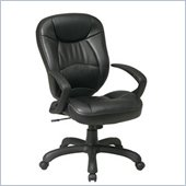 Office Star Deluxe Oversized Executive Faux Leather Task Chair