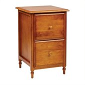 Office Star Knob Hill 2 Drawer Vertical Wood File Storage Cabinet in Antique Cherry Finish