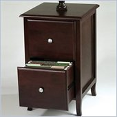 Office Star Merlot 2 Drawer Vertical Wood File Cabinet in Walnut