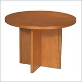 Office Star Pro-Line II Round 3.5' Conference Table with X-Shaped Base in Cherry