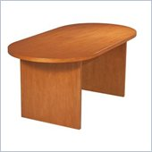 Office Star Pro-Line II Racetrack 6' Conference Table with Slab Base in Cherry