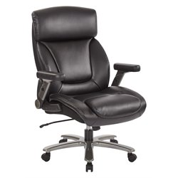 INSPIRED by Bassett Bonded Leather Executive Office Chair in Black