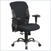 Office Star Mesh Mid Back Office Chair with Titanium Finish Accents