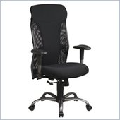 Office Star Mesh High Back Office Chair with Titanium Finish Accents
