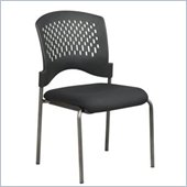 Office Star Titanium Finish Visitors Chair with Plastic Wrap Around Back