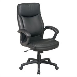 Office Star Executive High Back Eco Leather Office Chair with Locking Tilt Control