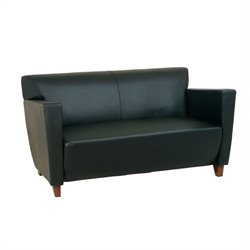 Office Star Furniture Black Leather Love Seat