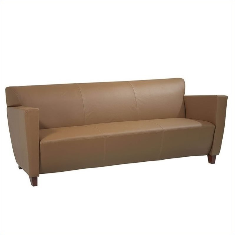 Furniture - Taupe Leather Sofa