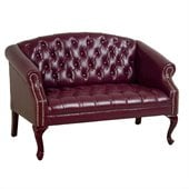 Office Star Work Smart Queen Ann Traditional Ox Blood Love Seat