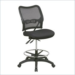 Office Star Space Seating Ergonomic Drafting Chair in Black